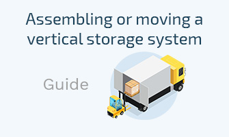 Assembling or moving a vertical storage system